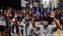 Hongkong Demonstration gegen Chinesische Regierungspläne