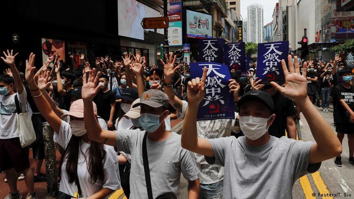 Акція протестувальників проти планів Китаю посилити вплив на Гонконг