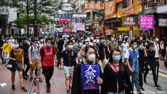 Hongkong Demonstration gegen Chinesische Regierungspläne (Getty Images/AFP/A. Wallace)