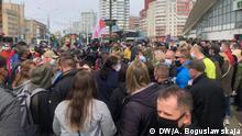 Weißrussland Minsk Unterschriftensammlung für die Präsidentenkandidatur von Swetlana Tichanowskaya