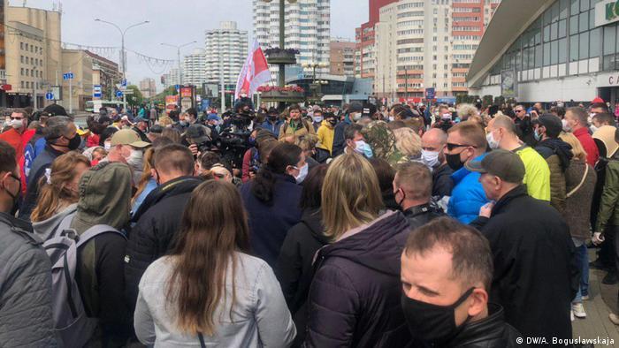 Акция в поддержку Светланы Тихановской в Минске, 24 мая 2020 г.