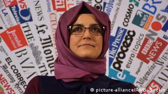 Hatice Cengiz Verlobte des ermordeten saudi-arabischen Journalisten Jamal Khashoggi