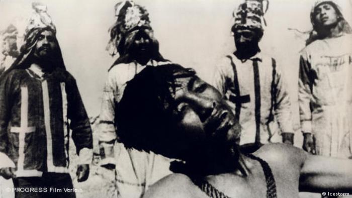 Still em preto e branco do projeto cinematográfico 'Que viva Mexico!', de Sergei Eisenstein