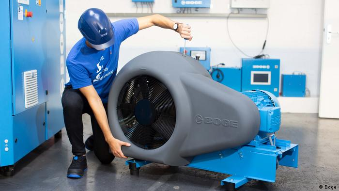 Kompressor-Hersteller Boge aus Bielefeld überdenkt derzeit seine Lieferketten
