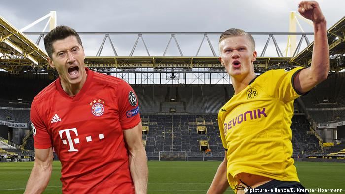 Robert Lewandowski et Erling Haaland, duel de stars pour la Supercoupe d'Allemagne