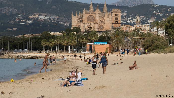 Beach in Palma de Mallorca, Spain (AFP/J. Reina)