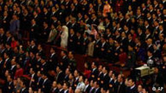 Das Plenum des chinesischen Volkskongresses trifft sich nur einmal im Jahr. (AP Photo/Ng Han Guan)