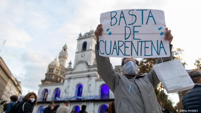 Argentinien | Protest gegen Quarantäne in Buenos Aires (Getty Images )