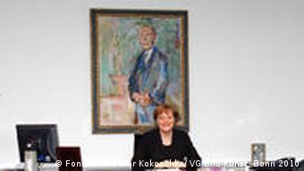 Angela Merkel Büro mit Gemälde von Kokoschka