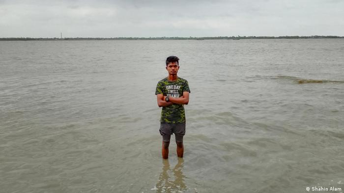 S M Shahin Alam, a student in Bangladesh's Patakhali village in southern Satkhira district