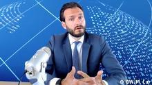 Robert Spano, Präsident des Europäischen Gerichtshofes für Menschenrechte (EGMR) in Straßburg, Organ des Europarates. Interview per Skype anlässlich Amtsantritt. Aufgenommen am 25.05.2020. Fotograf: Martin Luy, DW.