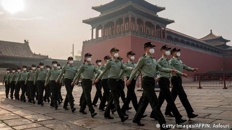 China Soldaten in Beijing (Getty Images/AFP/N. Asfouri)