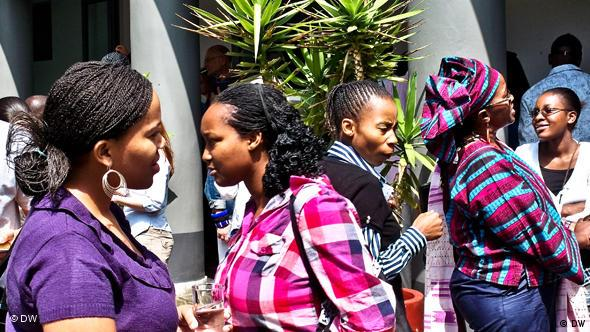 These students are participating in a culture management workshop at the Goethe-Institut in Johannesburg