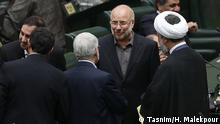 Der ehemalige General und Teherans Bürgermeister Mohammd Bagher Ghalibaf wird wahrscheinlich zum Parlamentspräsidenten gewählt. Thema: Das neu gewählte iranisches Parlament konstituiert sich am 27.05.2020 © Tasnim/ H. Malekpour