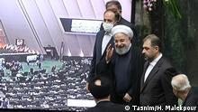 Hasan Rohani, der iranische Staatspräsident bei der Eröffnung Thema: Das neu gewählte iranisches Parlament konstituiert sich am 27.05.2020 © Tasnim/ H. Malekpour