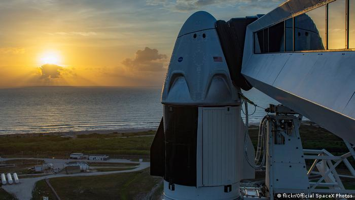 NASA and SpaceX are to launch the first astronauts from American soil since 2011 in a Crew Dragon capsule to the International Space Station (flickr/Official SpaceX Photos)