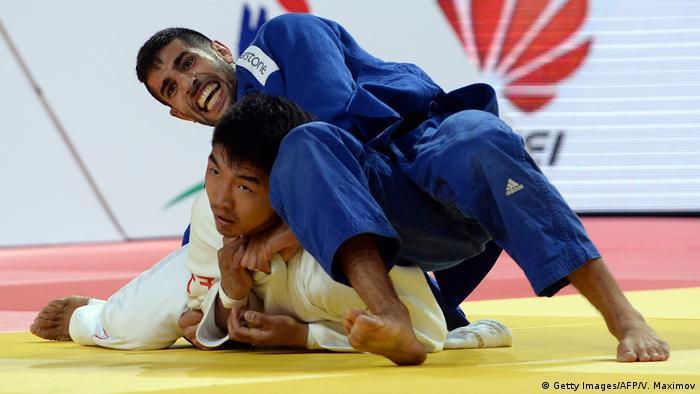 Judo World Championship: Golan Pollack (Israel) vs Tumurkhuleg Davaadorj (Mongolia)