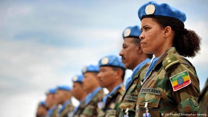 Liberia   Weibliche Mitglieder des Äthiopisches Bataillon der Mission der Vereinten Nationen