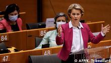 Brüssel EU-Kommissionspräsidentin Ursula von der Leyen im EU- Parlament zum Haushaltsentwurf