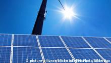 Sonne und Solarpanele