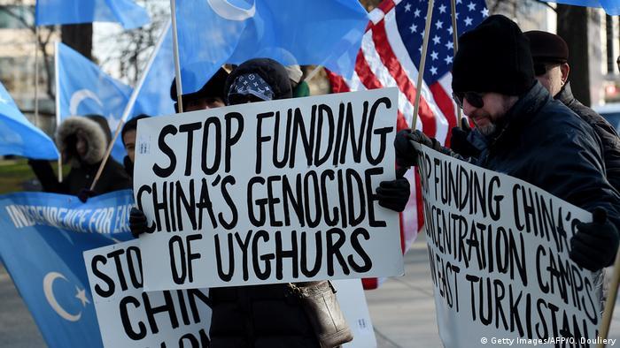 USA Demo für Menschenrechte der Uiguren in China