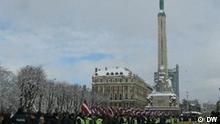 Marsch von Veteranen der Lettischen Legion