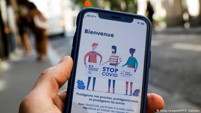 Frankreich Corona App