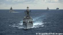 Bay of Bengal April 14 2012 The Indian Navy guided missile corvette INS Kulish P63 leads the N