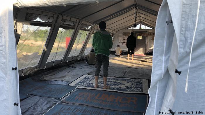 Kamp Principovac je u neposrednoj blizini granice sa Hrvatskom