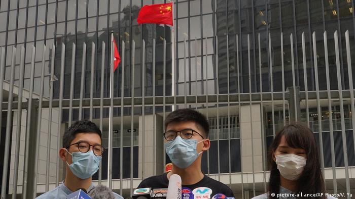 Hongkong & Sicherheitsgesetz China |Aktivisten Wong & Law & Chow