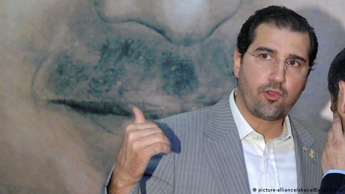 Syrian businessman Rami Makhlouf, the cousin of Bashar Assad, in Damascus