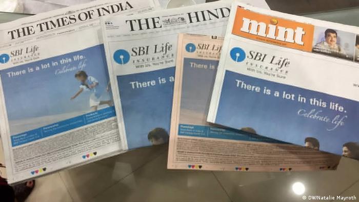 Indien Mumbai Schwere Zeiten für indische Zeitungen