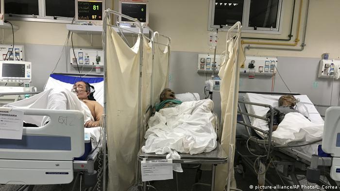 COVID-19 patients in hospital in Brazil