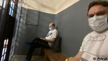 Russland Alexander Plushev und Journalist Sergey Smirnov in Haft