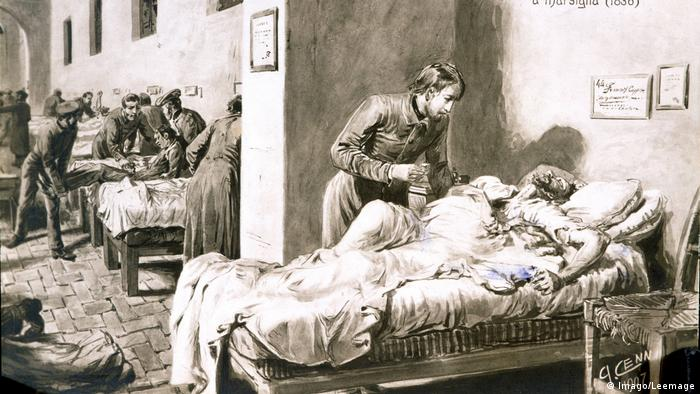 Imagen de paciente con cólera.