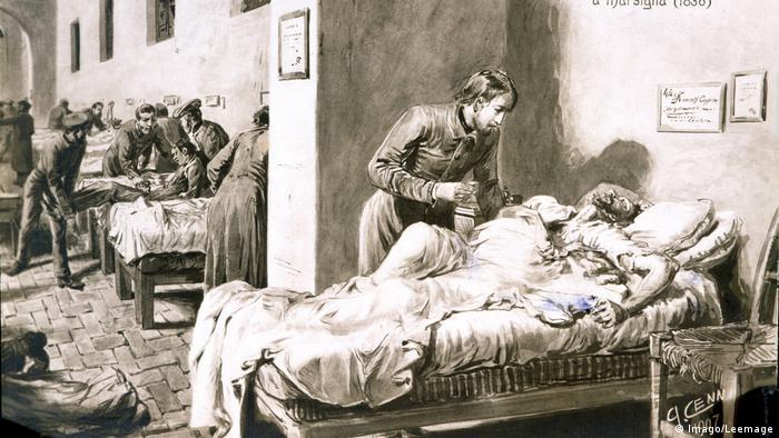 Bolnavi de holera in 1836