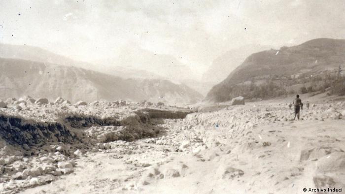 Yungay, como su vecina Ranrahirca (en la foto) quedaron sepultadas bajo la masa de hielo y lodo.