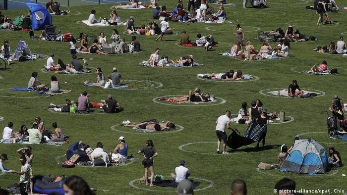 Parque em São Francisco em tempos de pandemia, nos EUA