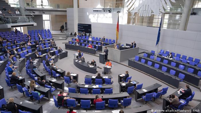 Deutscher Bundestag Plenum Sitzung in Berlin