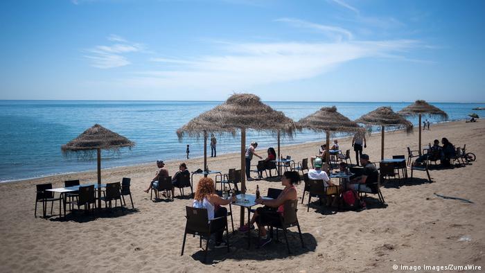 Hiszpania. Plaża w Maladze