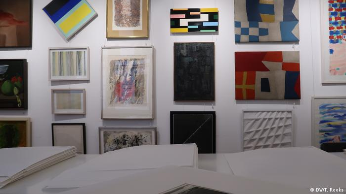 Modern art on display at Bassenge auction house in Berlin