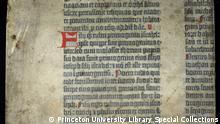 Die erste gedruckte Bibel von Johannes Gutenberg aus dem Jahr 1455