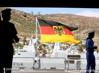 Image of German warships in South Africa.