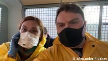 Russland Moskau Festnahme Journalisten Tatyana Felgenhauer und Alexander Plushev