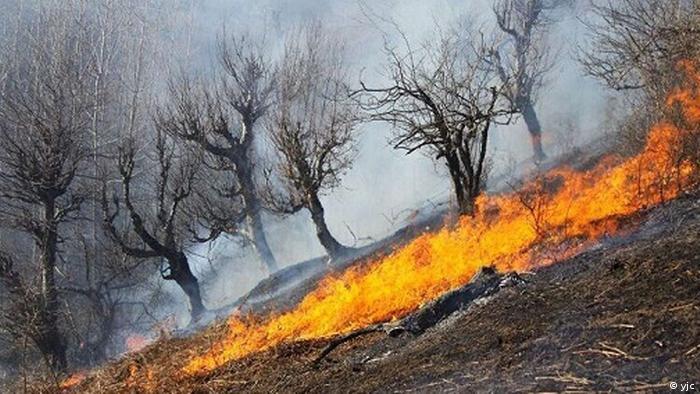 Iran Brand in der Region Khaiz
