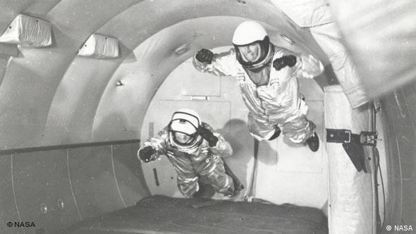 Astronauts train for zero-g conditions in so-called vomit comet flights