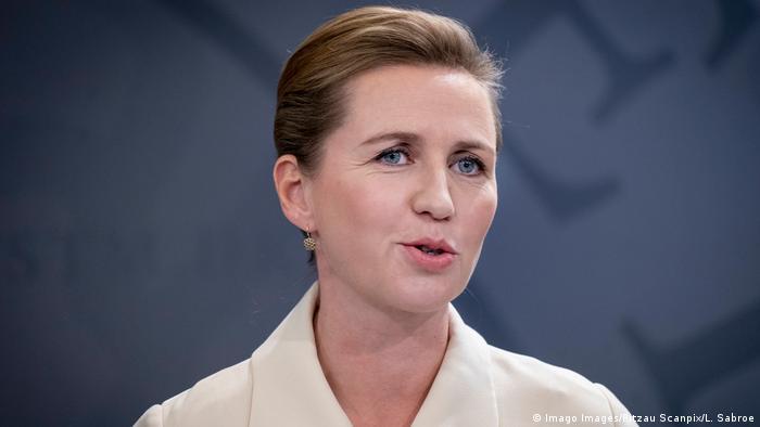 Dänemark Ministerpräsidentin Mette Frederiksen (Imago Images/Ritzau Scanpix/L. Sabroe)