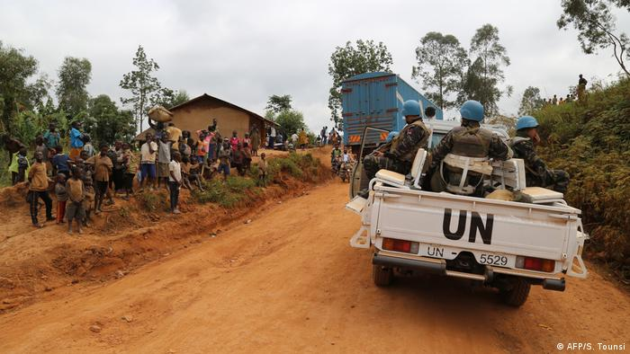 UN peacekeepers patrol a conflict-torn territory in DR Congo (AFP/S. Tounsi)