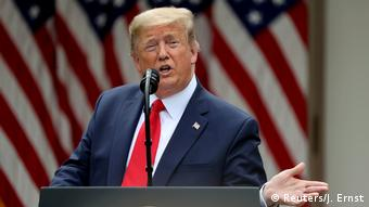 Weißes Haus PK US-Präsident Trump makes announcement about China at the White House in Washington