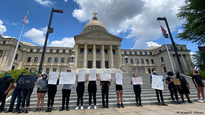USA, Mississippi - Proteste um den Tod von George Floyd (Imago/S. Altman)